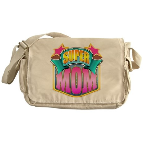 Pink Super Mom Messenger Bag