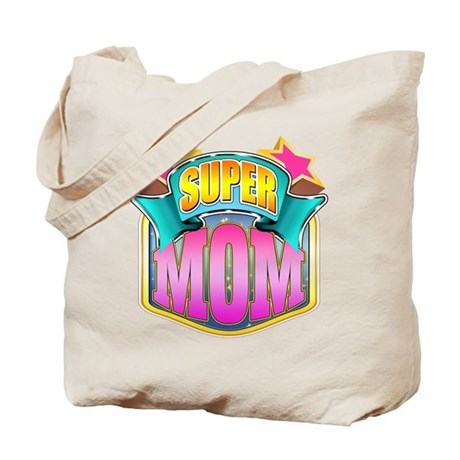 Pink Super Mom Tote Bag