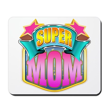 Pink Super Mom Mousepad