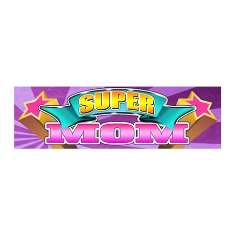 Pink Super Mom 21x7 Wall Peel