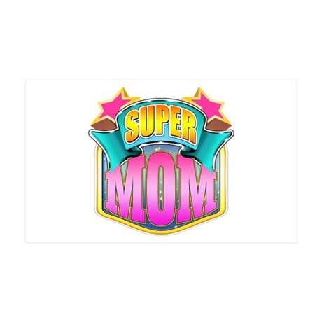 Pink Super Mom 38.5 x 24.5 Wall Peel