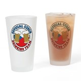 Official Czech Drinking Team Drinking Glass