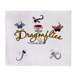 I Love Dragonflies Throw Blanket