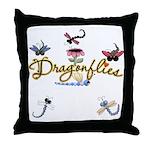 I Love Dragonflies Throw Pillow