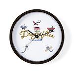 I Love Dragonflies Wall Clock