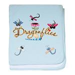 I Love Dragonflies baby blanket