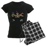 I Love Dragonflies Women's Dark Pajamas