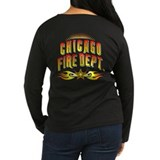 Chicago Fire Dept. Women's Long Sleeve Dark Tee