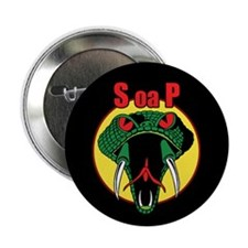 "One Mean Snake 2.25"" Button (100 pack)"