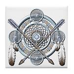 Winter Blue Dreamcatcher Tile Coaster