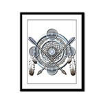 Winter Blue Dreamcatcher Framed Panel Print