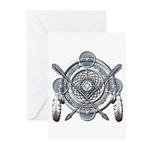 Winter Blue Dreamcatcher Greeting Cards (Pk of 10)
