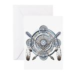 Winter Blue Dreamcatcher Greeting Cards (Pk of 20)