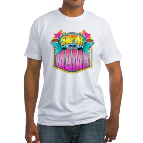 Pink Super Mama Fitted T-Shirt