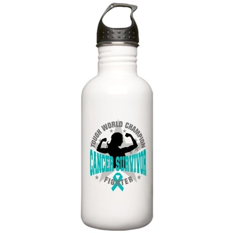 Ovarian Cancer Tough Survivor Stainless Water Bott