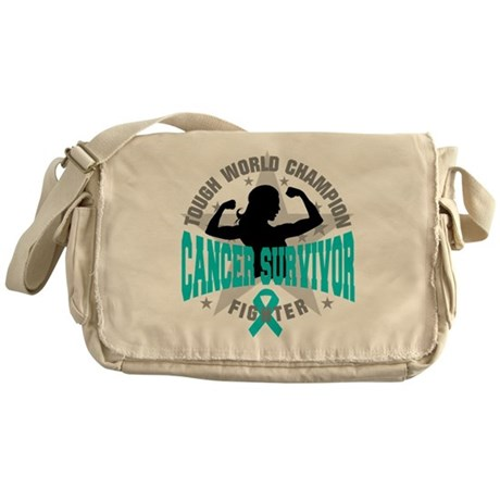 Ovarian Cancer Tough Survivor Messenger Bag