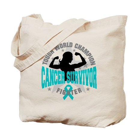 Ovarian Cancer Tough Survivor Tote Bag