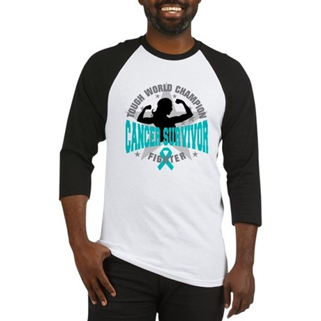 Ovarian Cancer Tough Survivor Baseball Jersey