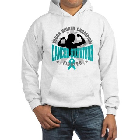 Ovarian Cancer Tough Survivor Hooded Sweatshirt