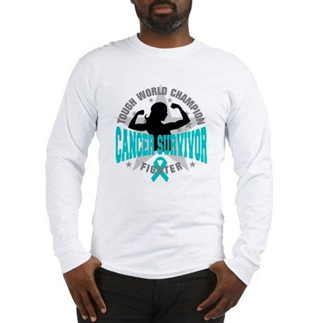 Ovarian Cancer Tough Survivor Long Sleeve T-Shirt