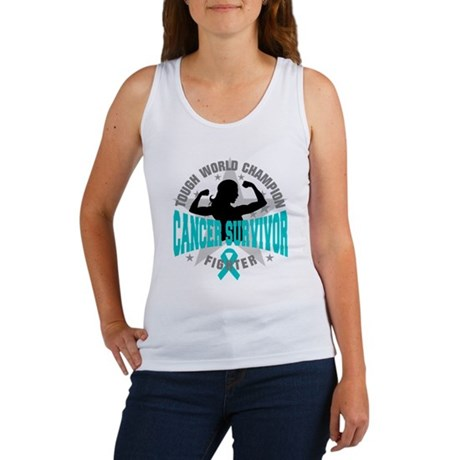Ovarian Cancer Tough Survivor Women's Tank Top
