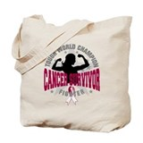 Head Neck Cancer ToughSurvivor Tote Bag
