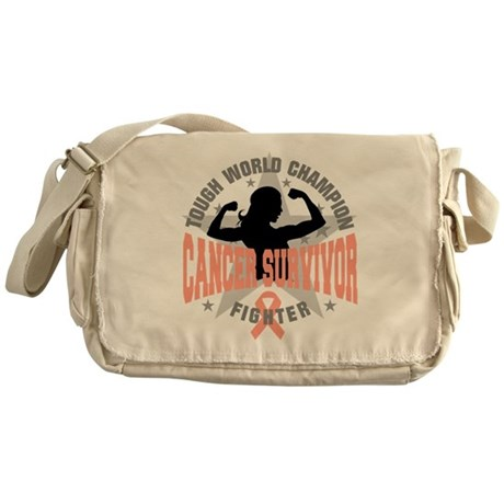Endometrial Cancer ToughSurvivor Messenger Bag