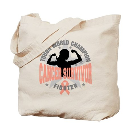 Endometrial Cancer ToughSurvivor Tote Bag