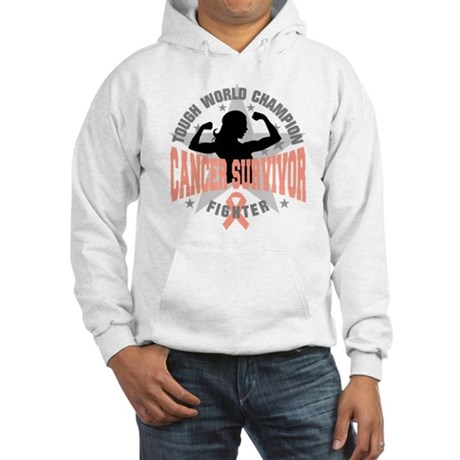 Endometrial Cancer ToughSurvivor Hooded Sweatshirt