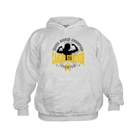Childhood Cancer ToughSurvivor Kids Hoodie
