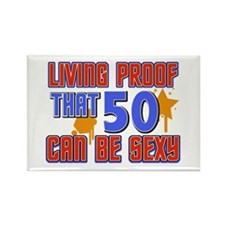 Cool 50 year old birthday design Rectangle Magnet