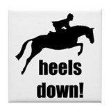 heels down jumper Tile Coaster
