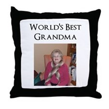 Cute Grandma picture Throw Pillow