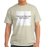 There's No Place Like 127.0.0 Ash Grey T-Shirt