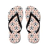 Peace Love Soccer Flip Flops