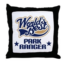 Park Ranger Gift (Worlds Best) Throw Pillow