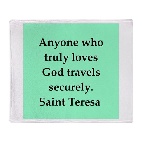 Saint Teresa Throw Blanket