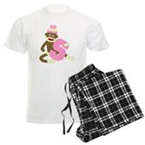 Sock Monkey Monogram Girl S pajamas
