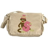 Sock Monkey Monogram Girl S Messenger Bag