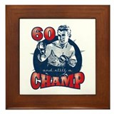 Boxing Champ 60th Birthday Framed Tile