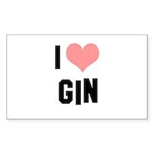 I heart Gin Decal
