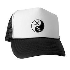 Yin Yang Snakes on a Plane Trucker Hat