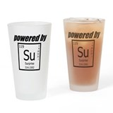 Powered By Surprise Drinking Glass