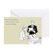 Birthday Reminder Greeting Cards (Pk of 10)
