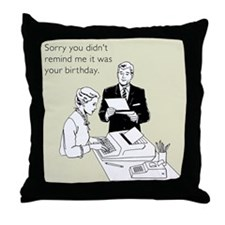 Birthday Reminder Throw Pillow