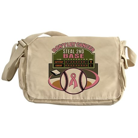 Dont Let Cancer Steal 2nd Base Messenger Bag