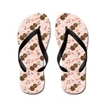 Cello Flip Flops With Music Notes
