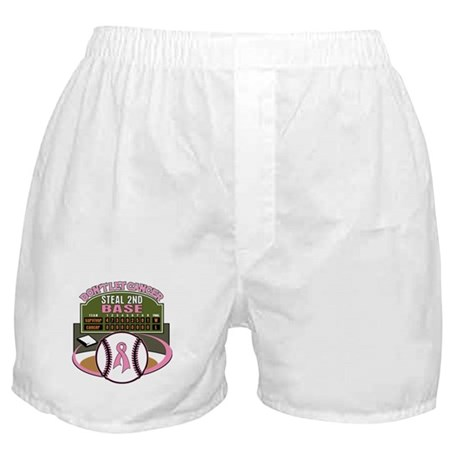 Dont Let Cancer Steal 2nd Base Boxer Shorts