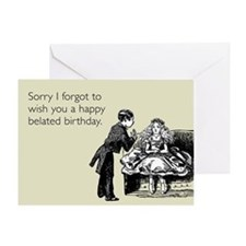 Happy Belated Birthday Greeting Card