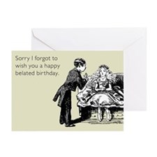 Happy Belated Birthday Greeting Cards (Pk of 20)
